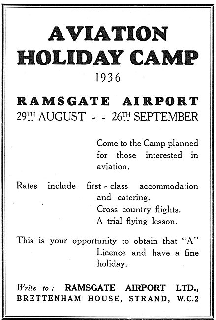Aviation Holiday Camp - Ramsgate Airport