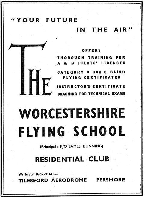 The Worcestershire Flying School - Tilesford Aerodrome. Pershore