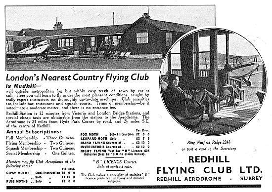 Redhill Flying Club - London's Nearest Country Flying Club
