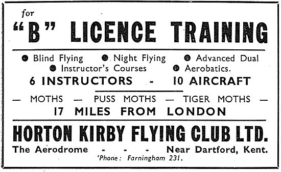 Horton Kirby Flying Club - Dartford Kent
