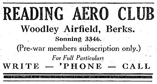 Reading Aero Club Woodley 1947