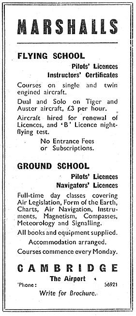 Marshalls Flying School Cambridge 1947