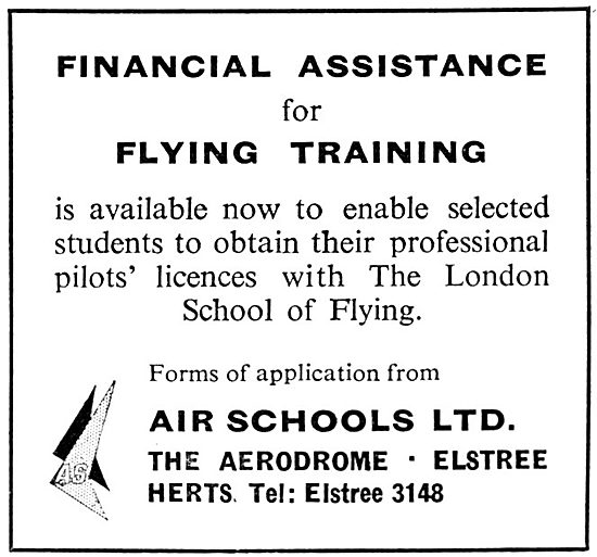 Air Schools Ltd - Elstree Aerodrome. London School Of Flying