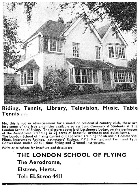 The London School Of Flying Elstree 1967 Advert