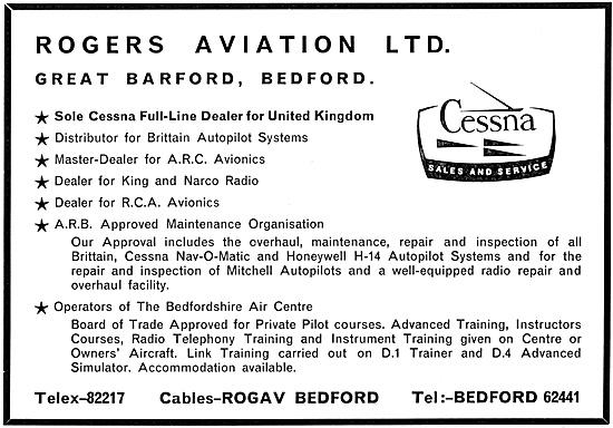 Rogers Aviation Cranfield. Bedfordshire Air Centre 1967