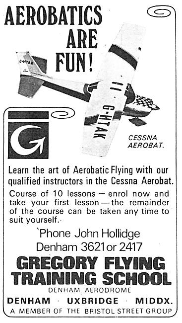 Gregory Flying Training School. Denham 1970