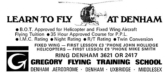 Gregory Flying Training School Denham