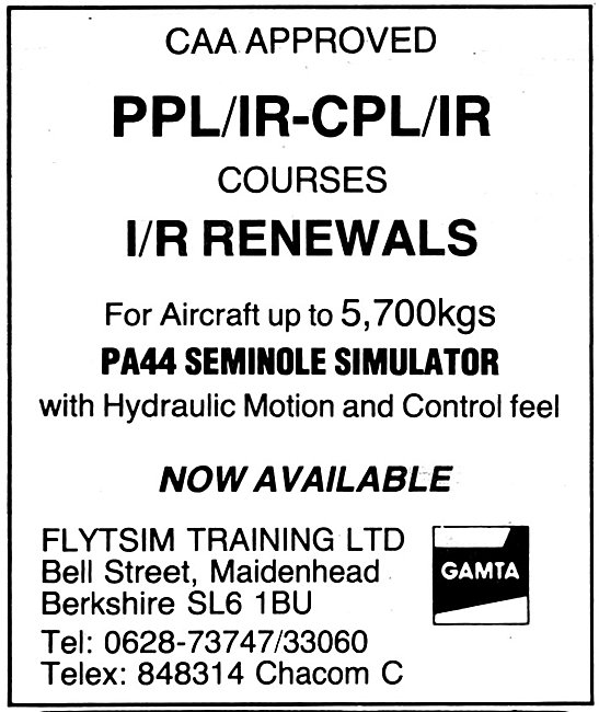 Flytsim Training Berkshire 1981