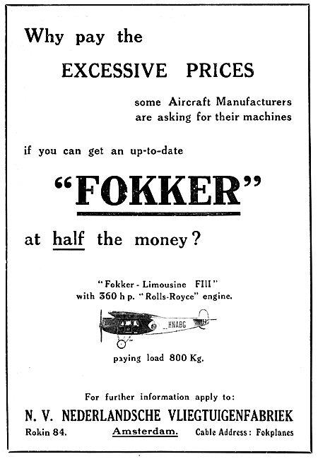 Fokker FIII Limousine