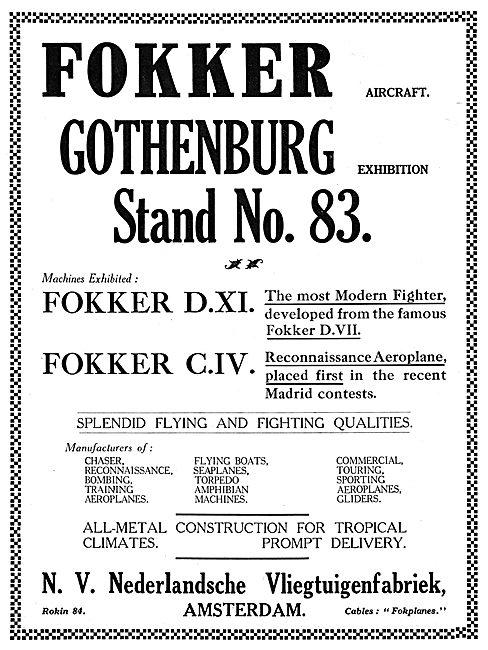 Fokker D.XI. - Fokker C.IV.
