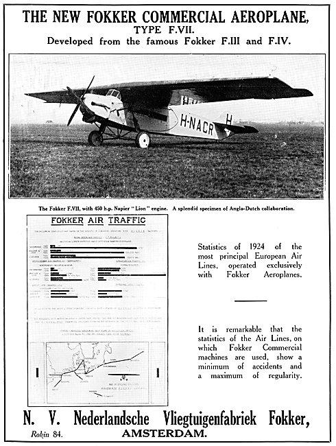 Fokker F.VII 1925
