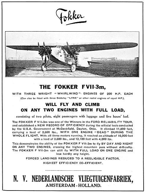 Fokker F.VII-3m 1925