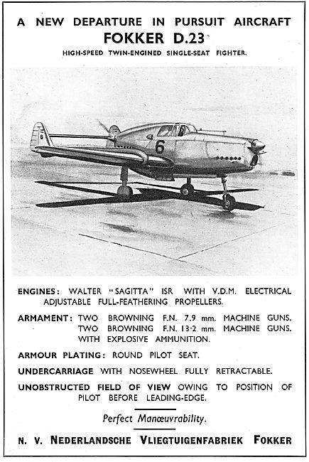 Fokker D23 High-Speed Single Seat Fighter