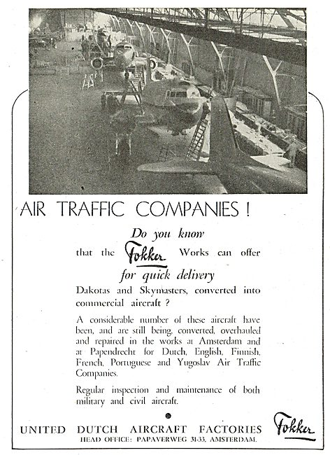 Fokker - United Dutch Aircraft Factories