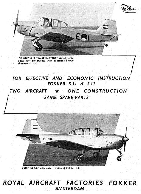 Fokker S11 Instructor - Fokker S12 Nosewheel Version