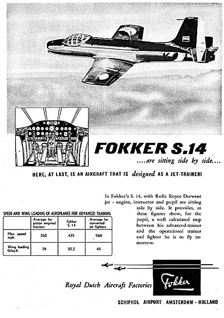 Fokker S14 Jet Training Aircraft