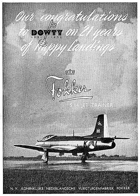 Fokker Aircraft Congratulate Dowty On Their 21st