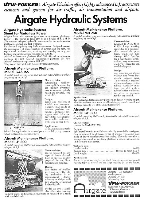 Fokker-VFW Airgate Hydraulic Systems - Ground Handling Equipment