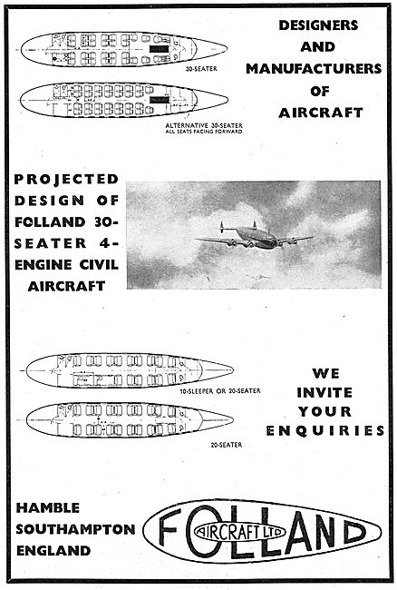 Folland - Designers & Manufacturers Of Aircraft