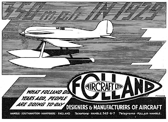 Folland - 350 MPH In 1929