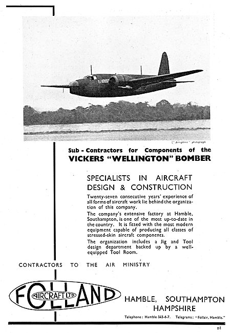 Folland Aircraft - Wellington