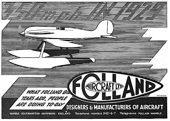 Folland Aircraft - Designers & Manufacturers Of Aircraft