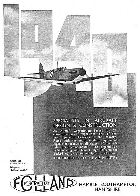 Folland Aircraft - Designers & Constructors
