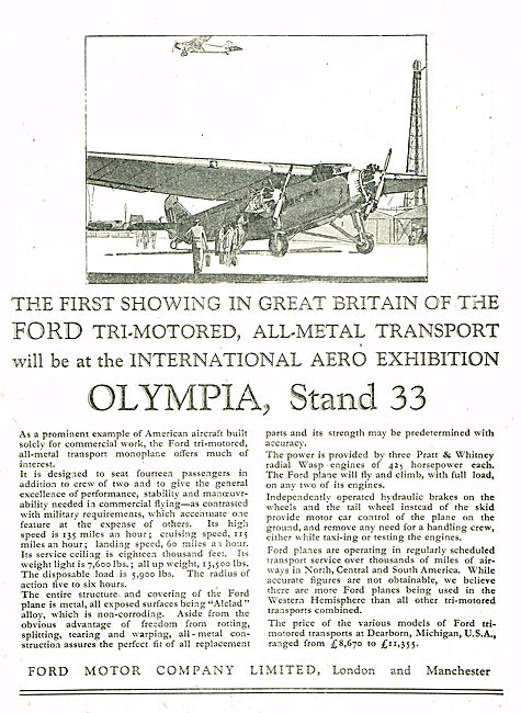 Ford Tri-Motored All Metal Transport Aircraft