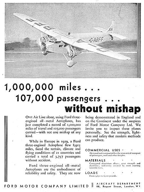 Ford Trimotor Monoplane G-ABFF