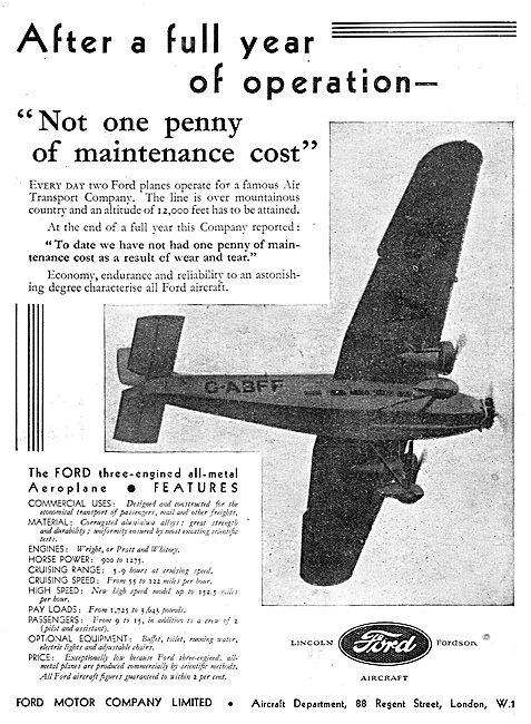 Ford Trimotor Monoplane - G-ABFF