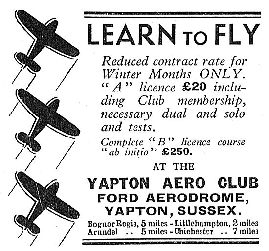 Yapton Aero Club - Ford Aerodrome, Sussex