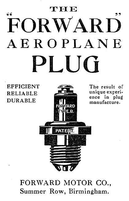 Forward Motor Co Aeroplane Plugs