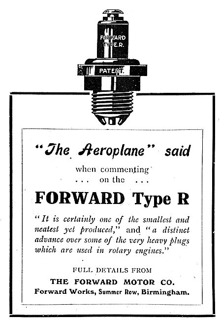 Forward Motor Co Type R Aeroplane Engine Spark Plugs