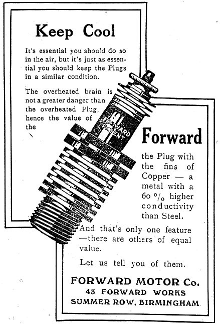 Forward Motor Co Aero Spark Plugs Will Keep Cool In The Air