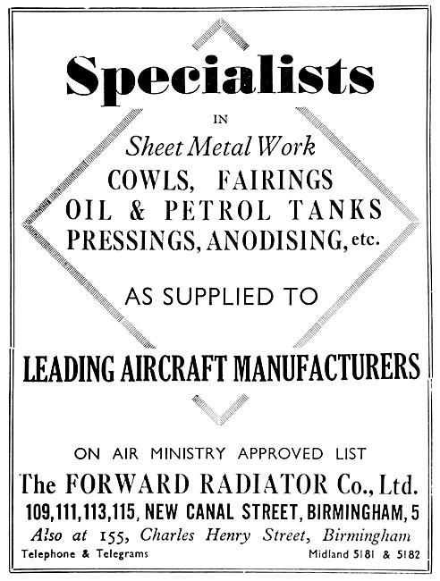 Forward Radiator Sheet Metal Workers