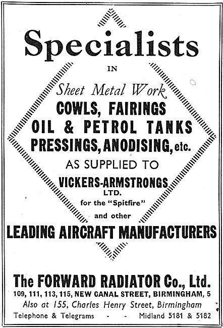 Forward Radiator. New Canal St. Birmingham. - Pressings & Fairing