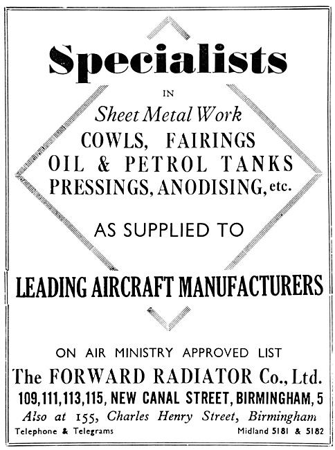 Forward Radiator Aircraft Sheetmetalwork