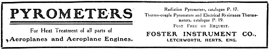Foster Instrument Pyrometers 1918