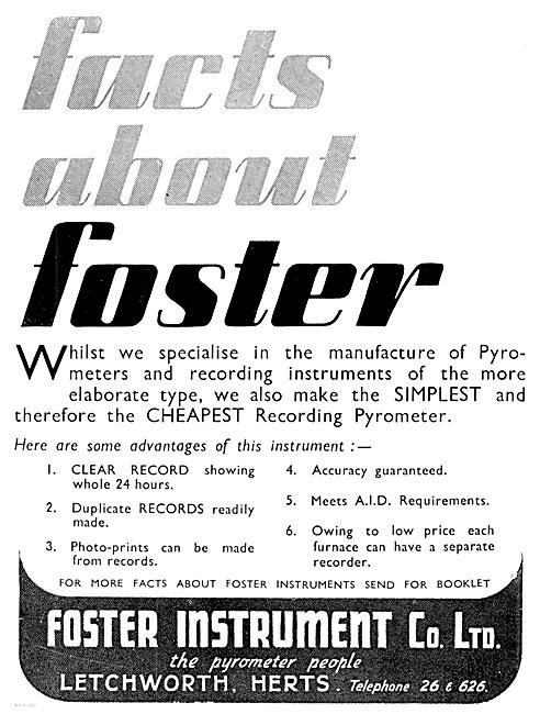 Foster Instrument . Foster Pyrometer