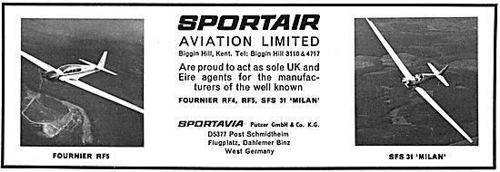 Fournier RF4 - Fournier RF5  - Fournier SFS31. Sportair