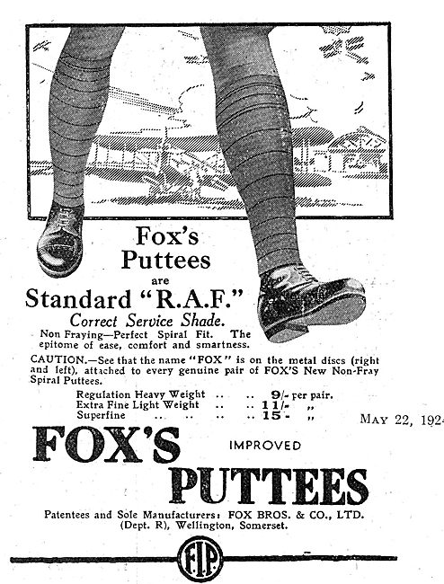 Fox's Puttees For RAF Officers