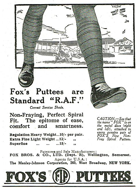 Fox's Puttees Are Standard