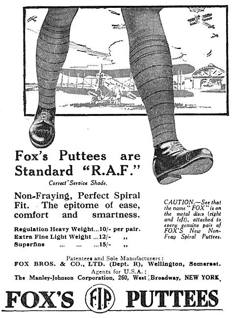 Fox's RAF Puttees