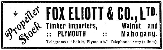 Fox Elliott & Co Ltd. Plymouth. Timber Importers
