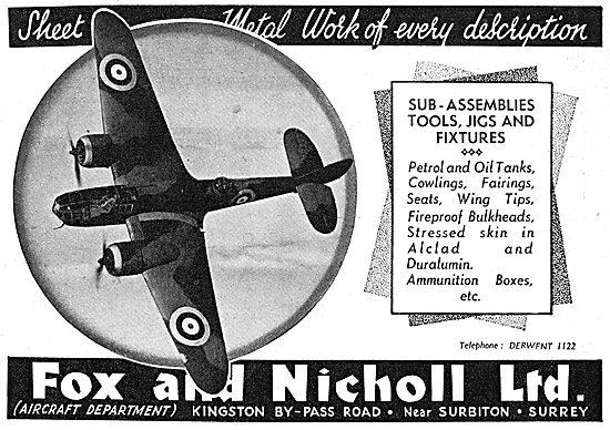 Fox & Nicholl Metalwork. Sub-Assemblies, Jigs & Fixtures.