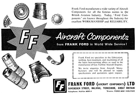 Frank Ford Aircraft Components - Fabrication, Welding & Machining