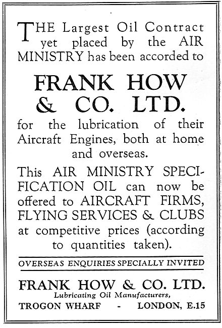 Frank How & Co: Lubricating Oil Manufacturers