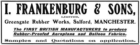 I.Frankenburg & Sons Ltd.  Aeroplane Fabrics