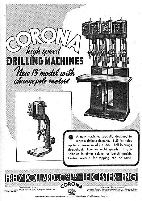 Frederick Pollard Corona Machine Tools 1939
