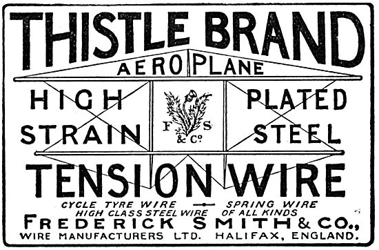 Frederick Smith & Co. Halifax. Steel Tension Wire